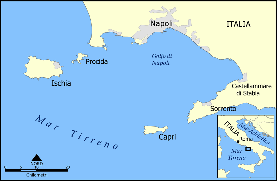 Capri and Ischia map it