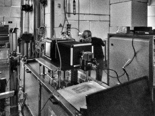Fig 5: the LEMON prototype installed at the Frascati Beam Test Facility (BTF)